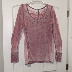 Maurices sheer long sleeve top, size large